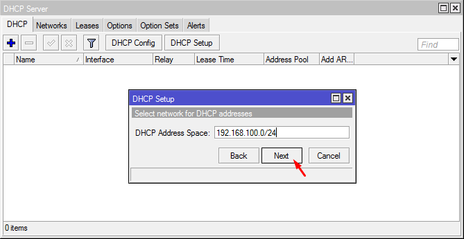DHCP Address Space