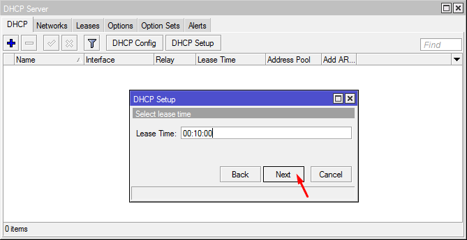 Lease Time DHCP Server
