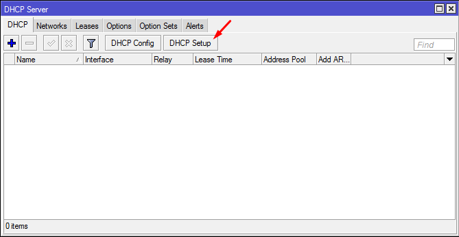DHCP Server -DHCP Setup