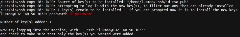 Transfer SSH Public Key to Server