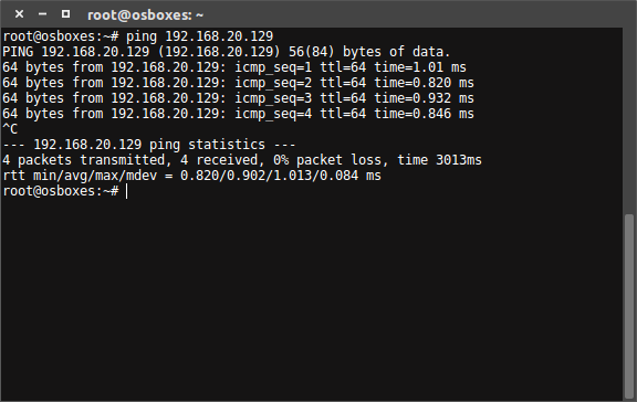 Test Ping to NFS Server